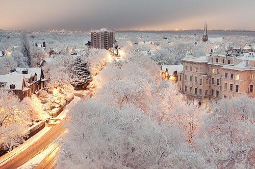 Snowy Night, Liverpool, England