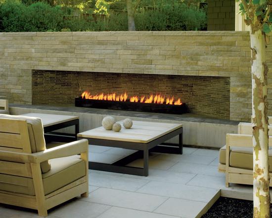 Modern Outdoor Fireplace (San Francisco)