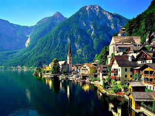 Lake Village, Hallstatt, Austria